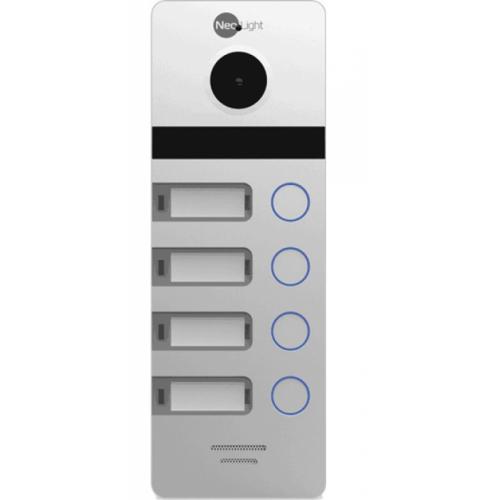 Вызывная видеопанель домофона NeoLight MEGA/4 Silver