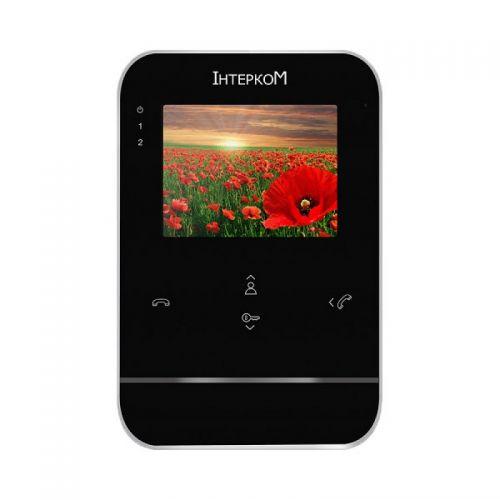 Цветной видеодомофон Iнтерком IM-01L Black