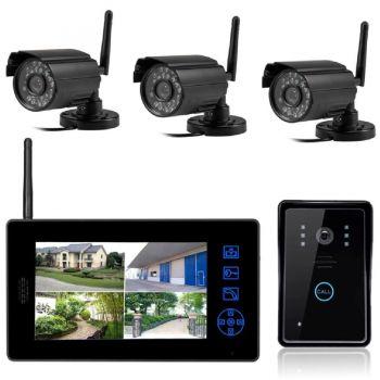 Комплект беспроводного видеодомофона InterVision KIT-DOOR4