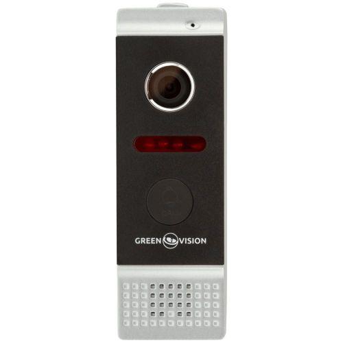 Вызывная видеопанель GreenVision GV-002-J-PV80-110 silver