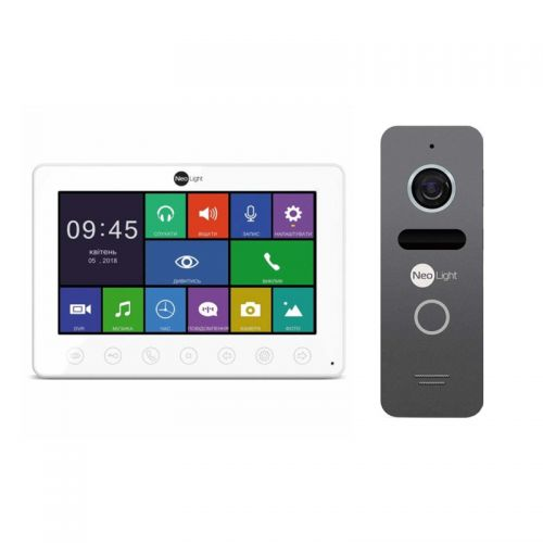 Комплект видеодомофон NeoLight OMEGA+/SOLO Graphite