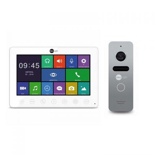 Комплект видеодомофона NeoLight OMEGA+/SOLO Silver