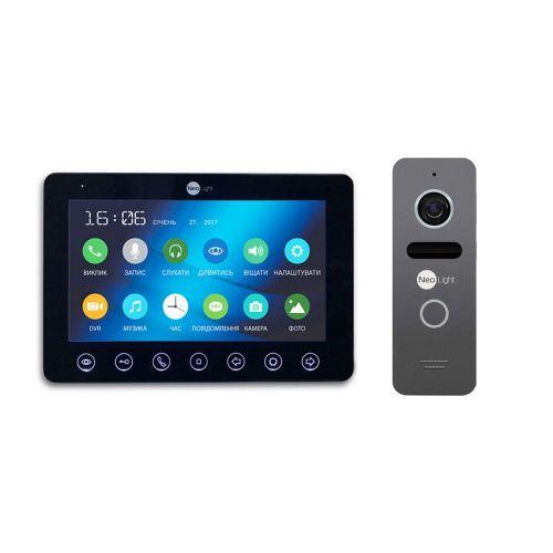 Комплект видеодомофона NeoLight OMEGA+ Black/SOLO Graphite