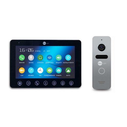 Комплект видеодомофона NeoLight OMEGA+ Black/SOLO Silver