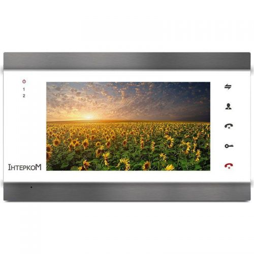 Видеодомофон Intercom IM-02 silver/white