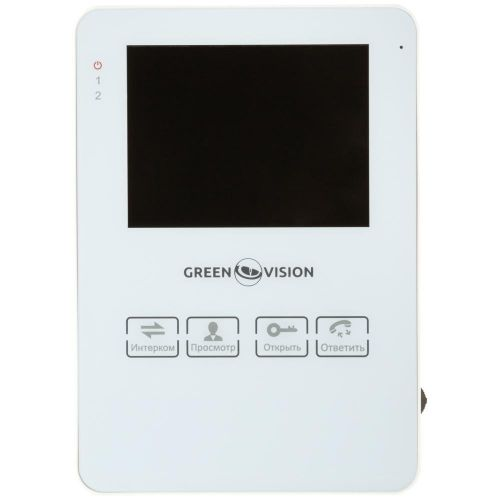 Видеодомофон GreenVision GV-051-J-VD4SD white