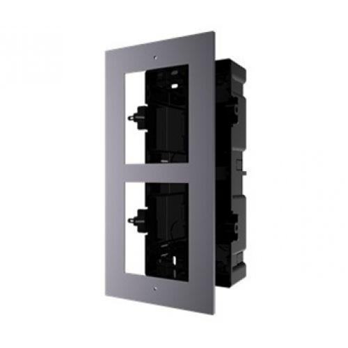 Врезная монтажная рамка на 2 модуля Hikvision DS-KD-ACF2/Plastic