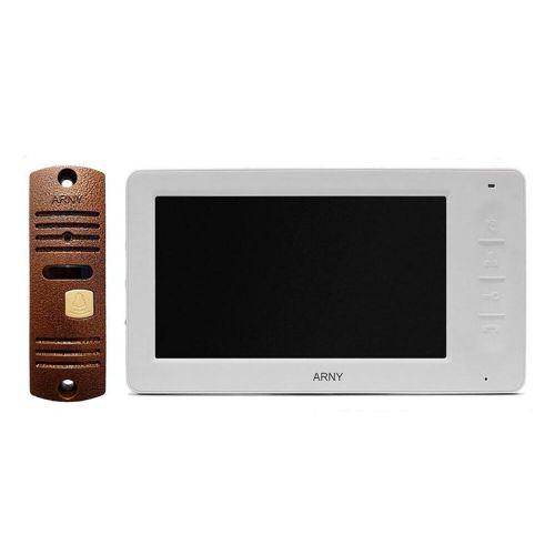 Комплект видеодомофона Arny AVD-7006 (белый/медный)