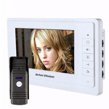 Комплект видеодомофона InterVision KCV-A374-MC130
