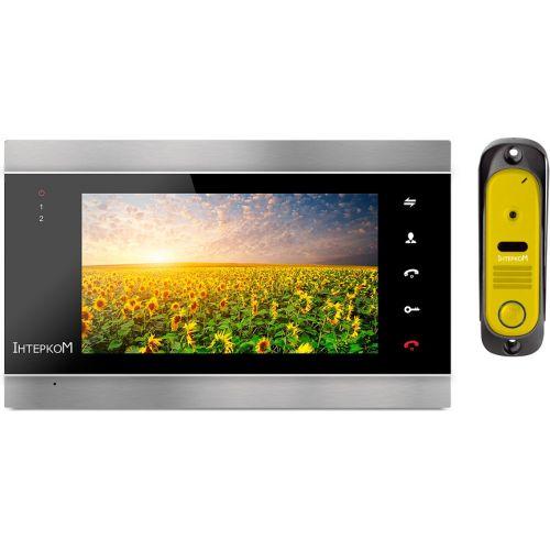 Комплект видеодомофона Intercom IM-12 black/yellow
