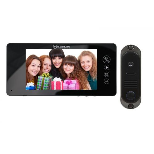 комплект видеодомофона PoliceCam PC-744R0 + (DVC-4Q)