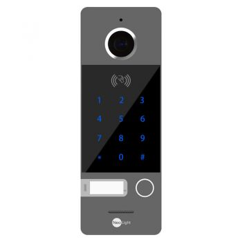 Вызывная видеопанель домофона NeoLight Optima ID KEY Grey